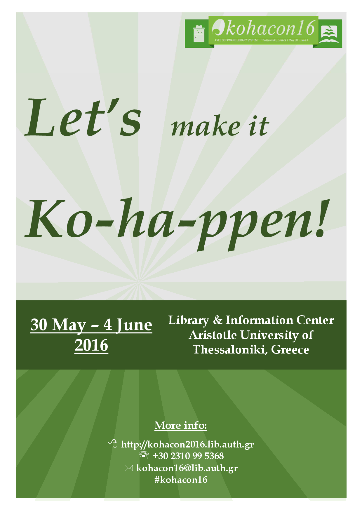KohaCon16 - First Poster